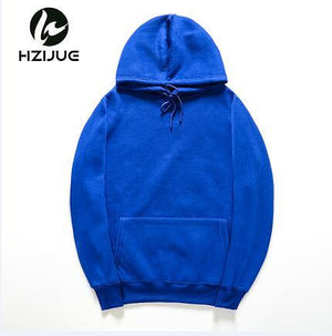 HZIJUE brand Long Sleeve Sweatshirt Men Hooded Blue casual USA SIZE Sweatshirt Men Hoodies Solid Pullover Clothing Hip Hop-noashe