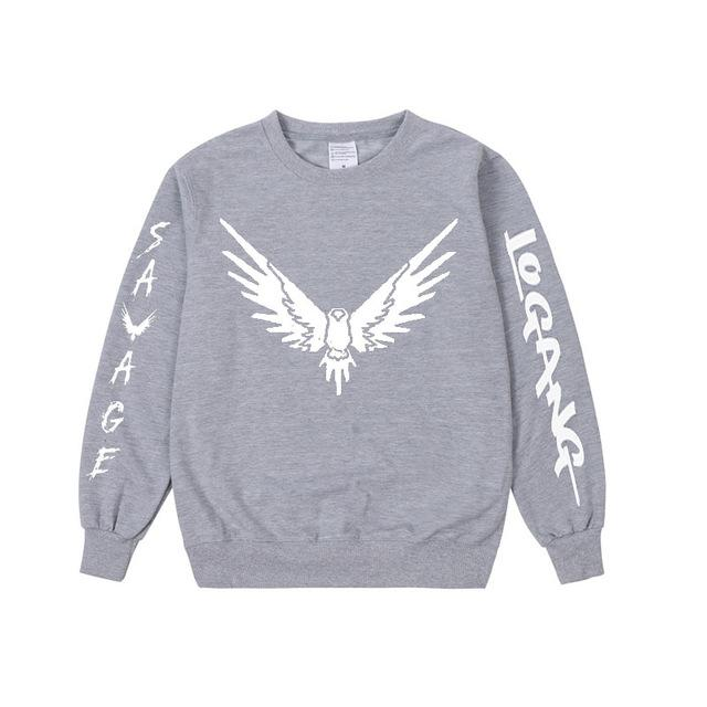 Pkorli Savage Maverick Hoodies Men Women Logang Jake Paul Crewneck Sweatshirt Casual Long Sleeve Maverick Bird Print Sweatshirt-noashe