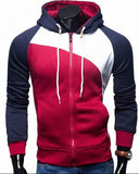 YUQIDONG 2018 Hoodies Men Sudaderas Hombre Hip Hop Mens Brand Zipper Jacket Hoodie Sweatshirt Slim Fit Men Hoody XXL-noashe