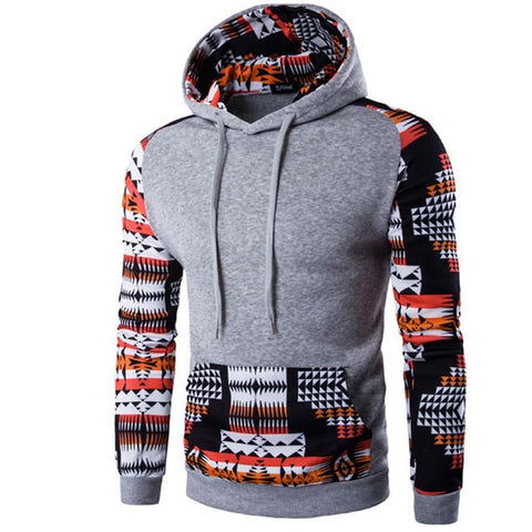 2018 Hoodies Men Hombre Hip Hop Male Brand Hoodie Digital Printing Sweatshirt Mens Splice Slim Fit Men Hoody XXL QMVR