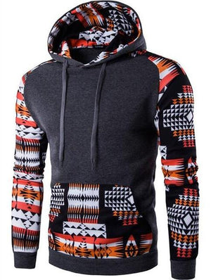 2018 Hoodies Men Hombre Hip Hop Male Brand Hoodie Digital Printing Sweatshirt Mens Splice Slim Fit Men Hoody XXL QMVR-noashe