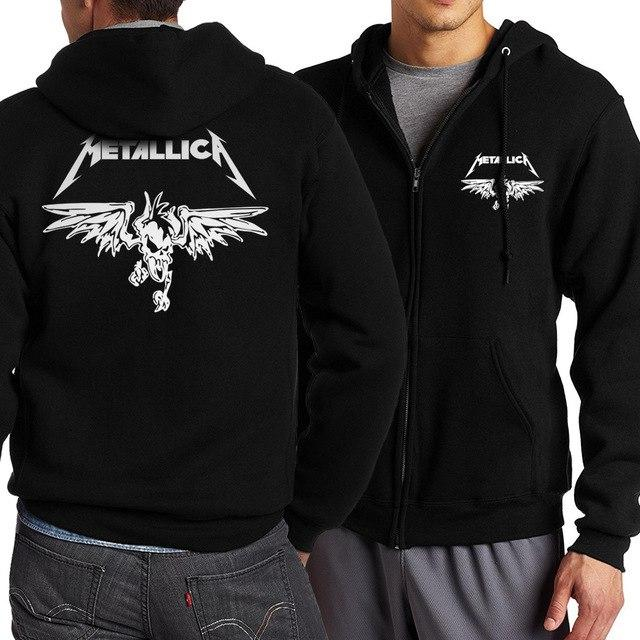 Hot sale Metal Metallica Hoodies Men 2018 Spring Autumn Zipper Hoody Sweatshirt Fashion Casual Hip Hop Tracksuits Sportsman Wear-noashe