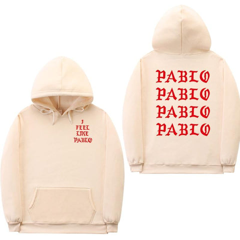 Fashion off white sweatshirts men funny letter hoodies i feel like pablo hoodie sweatshirt hip hop pullover hoody sweatshirt