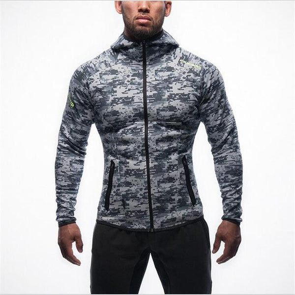 2018 Brand Clothing New Fitness Men Hoodies Gyms Men Hoody Zipper Casual Sweatshirt Muscle Men's Slim Fit Hooded Jackets
