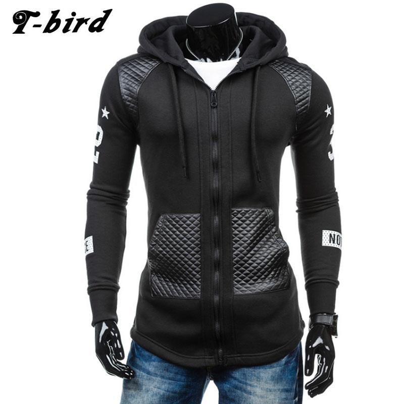 T-bird Hoodies Men 2017 Brand Male Hip Hop Hoodie Decorative Pocket Sweatshirt Man Cardigan Moletom Masculino Men's Hoodie XXXL-noashe