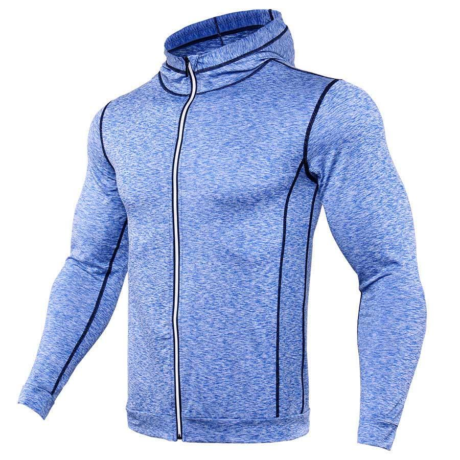 Zipper Design Hoodies Men Bodybuilding Sportswear Sweatshirts Brand Clothing Tracksuits Long Sleeve Fitness Hoody Jackets Men-noashe