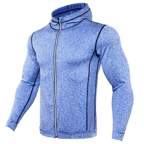 Zipper Design Hoodies Men Bodybuilding Sportswear Sweatshirts Brand Clothing Tracksuits Long Sleeve Fitness Hoody Jackets Men