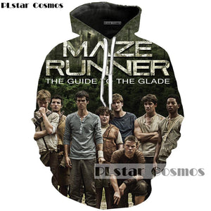 PLstar Cosmos brand Movie The Maze Runner 3d printed hoodies loose thin hoodie men/women fashion casual sweatshirt Cool Tops-noashe