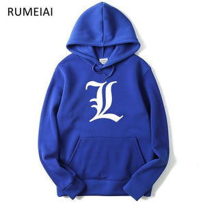 RUMEIAI Brand 2018 men cotton Hoodies sweatshirt Death Note print trend comfortable pullover coat warm Clothes Autumn and Winte-noashe