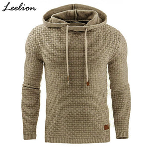 LeeLion 2018 Fashion Plaid Hoodies Men Sweatshirts Hoodie Sportswear Spring Summer Slim Solid Casual Men's Pullover Tracksuit-noashe