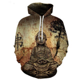 2018 NEW FASHION MEN WOMEN Buddha statue Brown BG HOODIE3D Hoodie Sweatshirts Pullovers Autumn Tracksuit Winter Loose ThinHoody