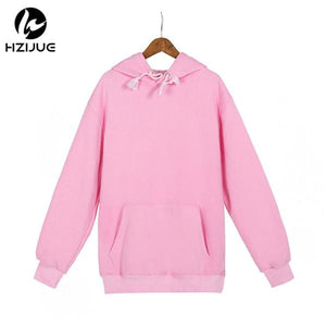 HZIJUE Fashion Color Hooides Men's Thick Clothes 2018 Winter Sweatshirts Men Hip Hop Streetwear Solid Fleece Hoody Man Clothing-noashe
