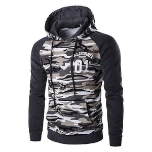 New Letskeep mens camouflage pullover hoodies casual slim hooded sweatshirts men hip hop pocket camo hoodie tracksuit ,MA226-noashe