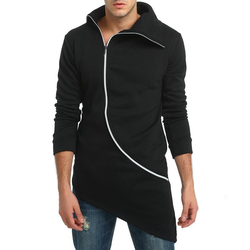 Men Hooded With Black Gown Fashion Hip Hop Mantle Hoodies Hat Sweatshirts long Sleeves Design Cloak Winter Coats Outwear Loose-noashe