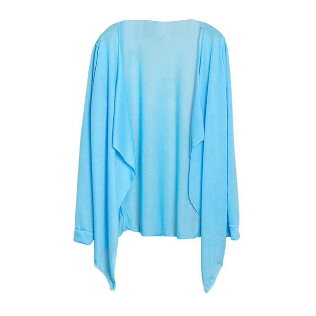 Women Long Thin Cardigan Cotton Blended Veil 2018 New Modal Sun Protection Clothing Tops Beach Veil Women's Quality Beachwear P4-noashe