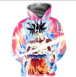 Cloudstyle New Fashion Dragon Ball Hoodies Men Thin 3d Sweatshirts With Hat Print Euramerican Casual Hooded Hoodies Plus Size-noashe
