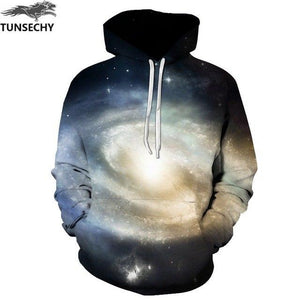 TUNSECHY Hot Fashion Men/Women 3D Sweatshirts Print Milk Space Galaxy Hooded Hoodies Unisex Tops Wholesale and retail-noashe