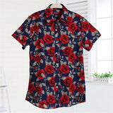 Dioufond Summer Short Sleeve Beach Shirt Women Floral Blouses Print Ladies Tops Plus Size Blusas Women Clothes Fashion Shirt