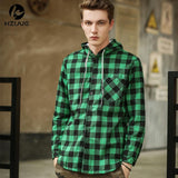 HZIJUE 2018 new arrival Fashion men Hoodies Cotton Spring Autumn Long Sleeve Plaid cotton Hoodies hip hop pure cotten male tops-noashe