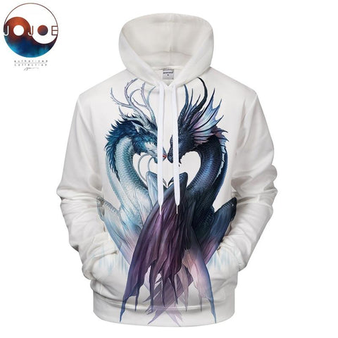 Yin and Yang Dragon by JojoesArt Hoodies 3D Men Women Sweatshirts Brand Pullover Hot Sale Casual Tracksuits Drop ZOOTOP BEAR