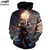 TUNSECHY Anime Hoodies Dragon Ball Z Pocket Hooded Sweatshirts Goku 3D Digital printing Men Women Long Sleeve New Hoodie-noashe