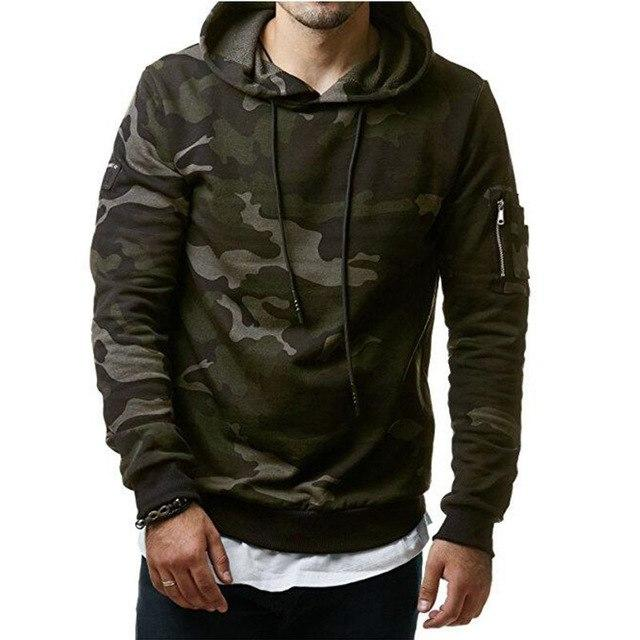 FGKKS 2018 New Men Hoodies Sweatshirt Fashion Camouflage Military Tracksuit Casual Pullover Male Hooded-noashe