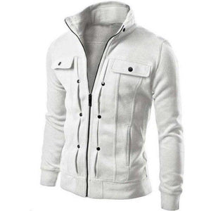 2018 New Fashion Casual Men's Men's Casual Jacket Black White Coffee Dark Gray Light Gray-noashe