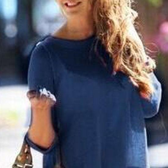 Chiffon Round Neck Hot Long-sleeved Women Shirt Loose Perspective Halter Sexy-noashe