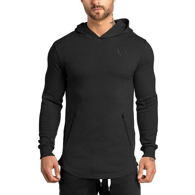 2018 spring new Men Hoodie clothes Fashion leisure pullover fitness Bodybuilding jacket Sweatshirts sportswear top coat clothing-noashe