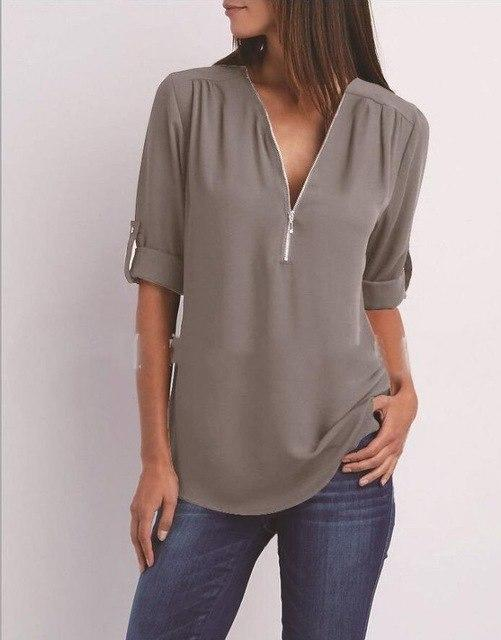 Chiffe Blouses Female Casual Black Chiffe Shirt Solid Color Long Sleeve Women Fashion Chiffon Blouse Plus Size Funny Shirts Tops-noashe