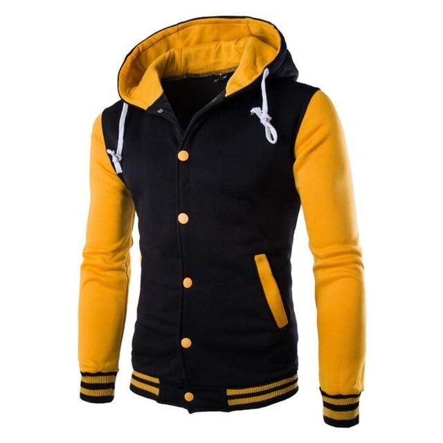 Men Sportswear College Baseball Hoodies 2018 Autumn Coats Sudaderas Hombre Hip Hop Jacket Brand Sweatshirt Slim Fit Men Hoody-noashe