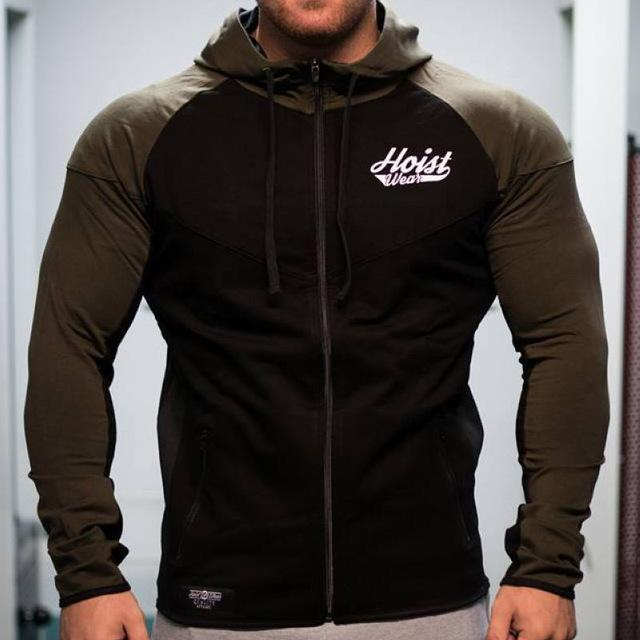 SJ 2018 Men Cotton Hoodies Zipper Fashion Leisure Pullover Fitness Bodybuilding jacket Sweatshirts Sportswear Clothing-noashe