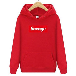 New Fashion Savage Street Wear Cotton Suprem Hoodies Parody No Heart X Savage Hoodie Sweatshirt Men Women Hip Hop Pullover Hoody-noashe