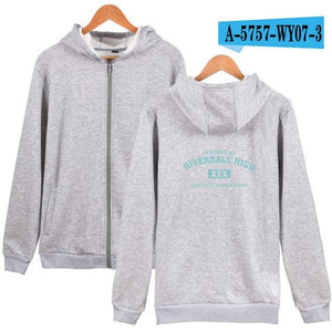 LUCKYFRIDAYF 2018 BTS Riverdale Men Hoodies Sweatshirts With Zipper Winter Autumn Jackets Men Spring south side serpents Fsshion-noashe