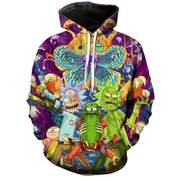 PLstar Cosmos Classic cartoon Rick and Morty 3d Hoodies Funny Crazy Scientist Rick Print Men Women Streetwear hoody Sweatshirt-noashe