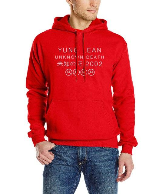 YUNG LEAN UNKNOWN DEATH Sad Boys sweatshirt Men Cotton long Sleeve autumn male tracksuit man's man brand clothing hoody hooded-noashe