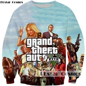PLstar Cosmos 2017 New design 3d Sweatshirt Hoodies Hot games Grand Theft Auto V 3D Print Hipster Sweatshirt Crewneck Tracksuits-noashe