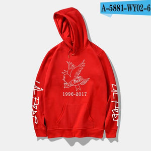 LUCKYFRIDAYF 2018 Lil Peep Rap Spring Women/Men Sweatshirts Print Casual Hip Hop Style Hoodies Men/Women Clothes Plus Size 4XL-noashe