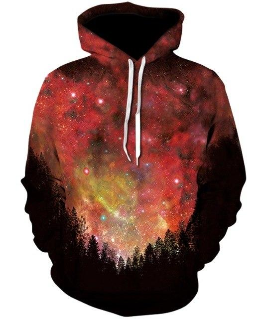 Hoodies Space Galaxy Sweatshirt 3D Hoodie New Coat Casual Streetwear Fashion Hat Sweatshirt Men Women Brand Clothing 2018-noashe