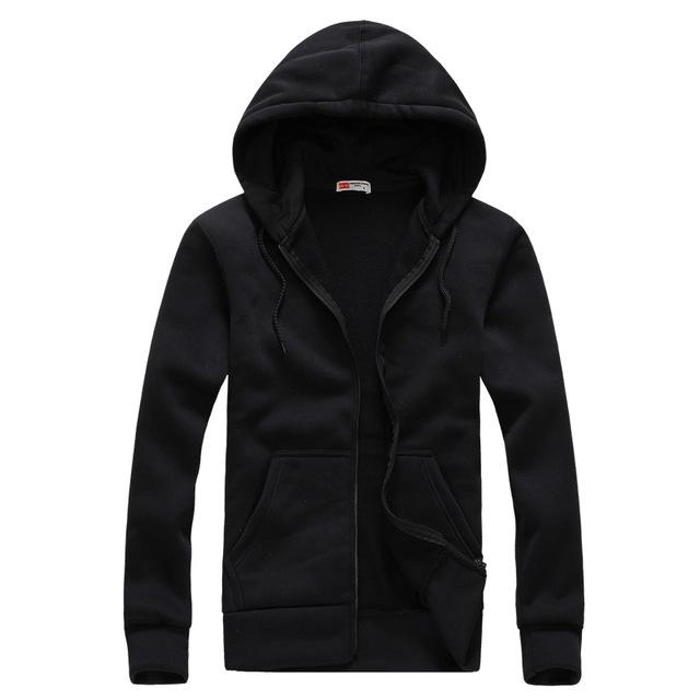 Men's Fashion Long Sleeve Hip Hop Hoodie With a Hood Cardigan Lovers Men Hoodies 2018 Sudaderas Ho Navy Blue Tute Sportive Uomo-noashe