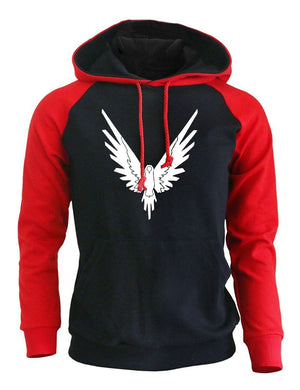 Fashion Hoodies Men 2018 Spring New Pullovers Print Animal Anime Eagle Hip Hop Streetwear Brand Hoodie Brand Clothing Hoody Kpop-noashe
