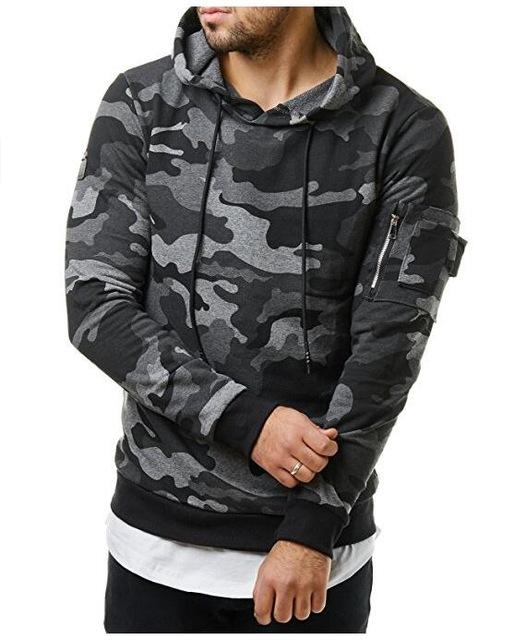 Loldeal Mens Hoodies and ArmyGreen Sweatshirts Zipper Hooded Sweatshirts Clothing Fashion Military Hoody For Men Printed Hoodie-noashe