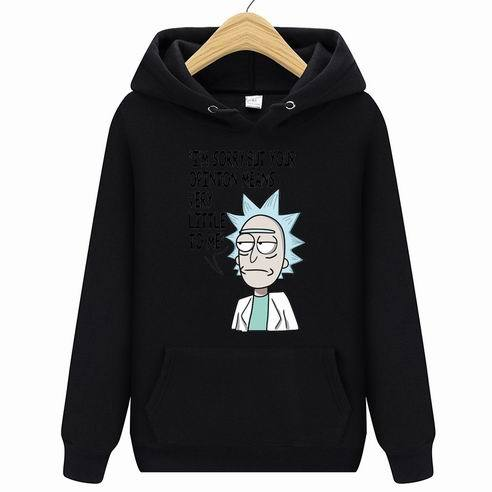 New Rick Morty Printed Hooded Hoodies Men Autumn Winter Cotton Long Sleeve Hip Hop Rick Morty Streetwear Clothing-noashe