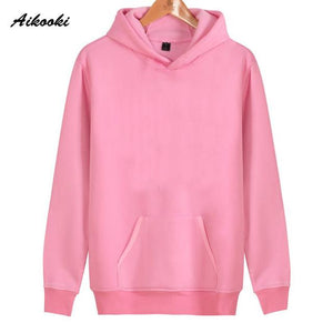 Aikooki 2018 Solid Color Hoodies And Sweatshirt Men Jumpers Women Pure Color Black Red Pink Cap Hoody Hooded Hoodie Polluvers-noashe