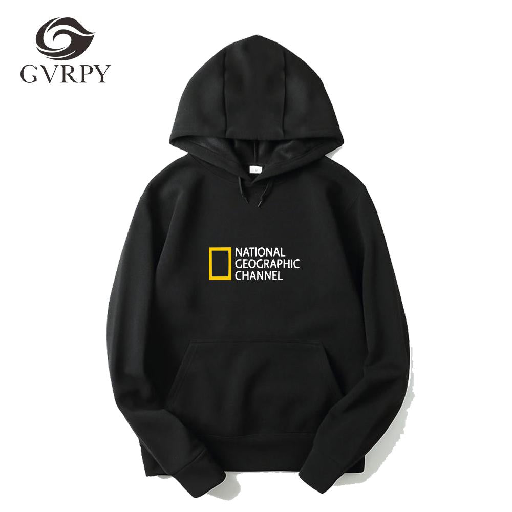 NATIONAL GEOGRAPHIC CHANNEL Print Hoodies Women Men Winter Warm Hip Hop Pullovers streetwear female comfortable Harajuku Hoodies-noashe