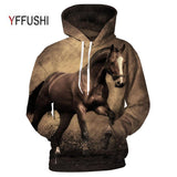 YFFUSHI 2018 Animal Printed Hoodies 3D Men Women Hooded Pullover Horse Print Sweatshirts Casual Loose Men Coat Plus Size 5XL-noashe