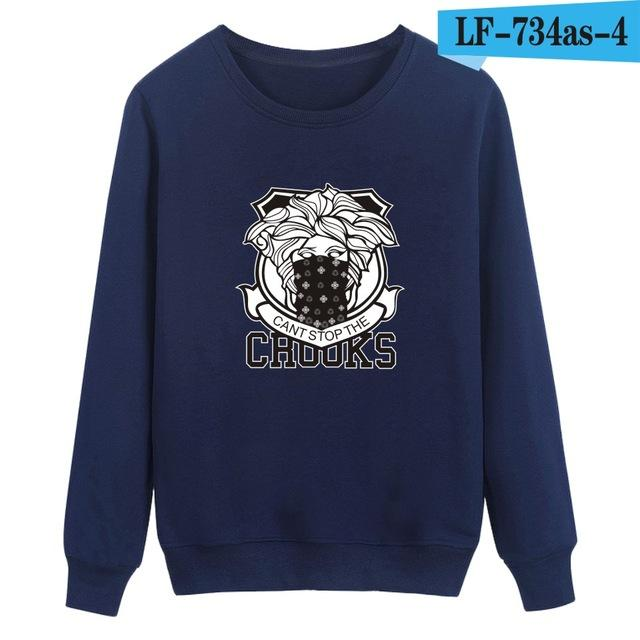 Trendy Crooks and Castles Men/Women Hoodies 3Style 4Color Comfortable Casual Simple Fashion Unisex Sweatshirts High Street Men-noashe