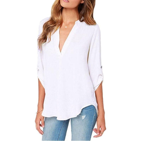 ZZSYKD Chiffon Shirt Office Women Blouse Elegant Long Sleeve Summer Womens Tops And Blouses Fashion Ladies Clothing Plus Size