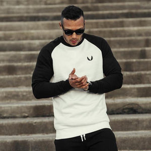 2018 Men Gyms Long Sleeve Patchwork Hoodies Fitness Bodybuilding Sweatshirt Crossfit Pullover Sportswear Male Workout Jackets-noashe