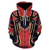 2018 Avenger Men hoodies Fashion men Spiderman 3d print Hoodies Streetwear Casual Cospaly Sweatshirt Plus Size 3XL